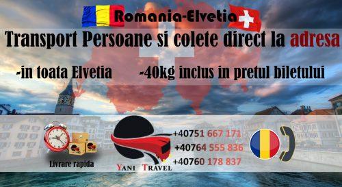 transport persoane colete romania elvetia